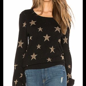 Black + Gold Sparkly Star Sweater